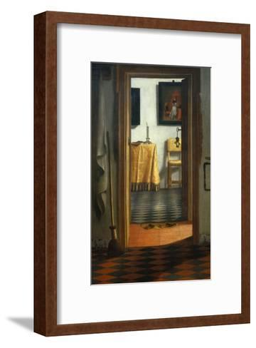 View of an Interior-Samuel van Hoogstraten-Framed Art Print