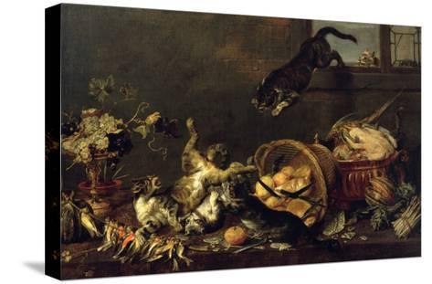 Cats in a Larder-Paul De Vos-Stretched Canvas Print