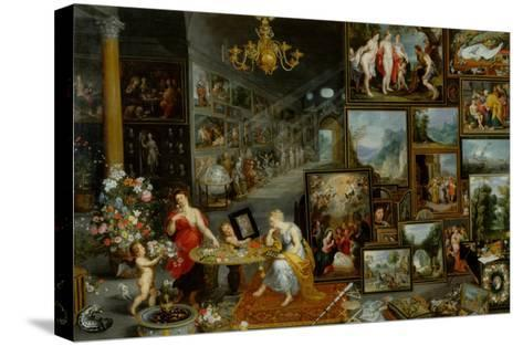 The Five Senses: Sight and Smell-Jan Brueghel the Elder-Stretched Canvas Print