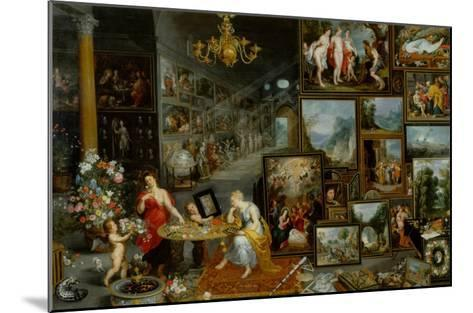 The Five Senses: Sight and Smell-Jan Brueghel the Elder-Mounted Giclee Print