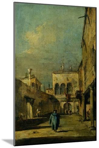 Venetian Courtyard-Francesco Guardi-Mounted Giclee Print