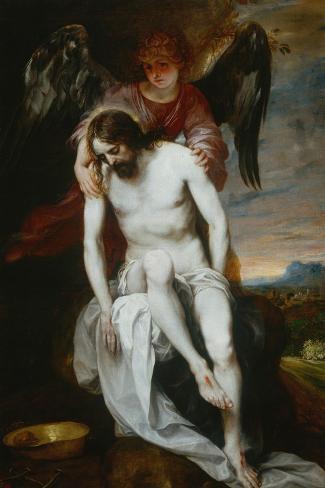 Pieta-Alonso Cano-Stretched Canvas Print