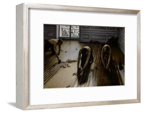 Floor Scrapers-Gustave Caillebotte-Framed Art Print