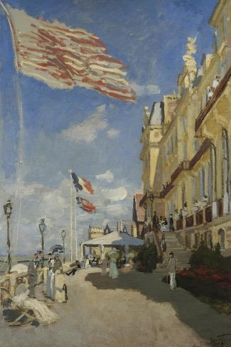 The Hotel des Roches Noires at Trouville-Claude Monet-Stretched Canvas Print