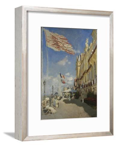 The Hotel des Roches Noires at Trouville-Claude Monet-Framed Art Print