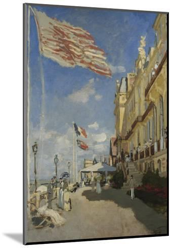 The Hotel des Roches Noires at Trouville-Claude Monet-Mounted Giclee Print