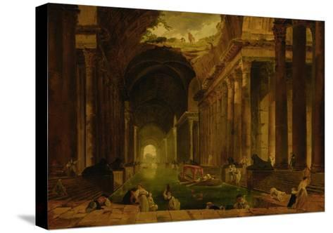 The Baths-Hubert Robert-Stretched Canvas Print