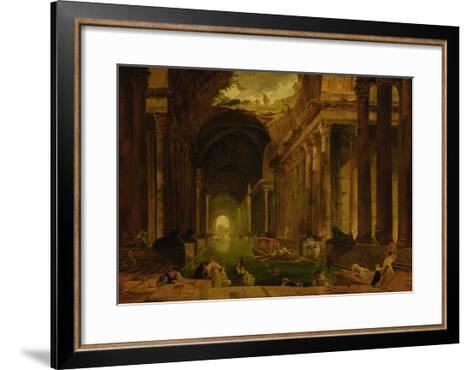 The Baths-Hubert Robert-Framed Art Print