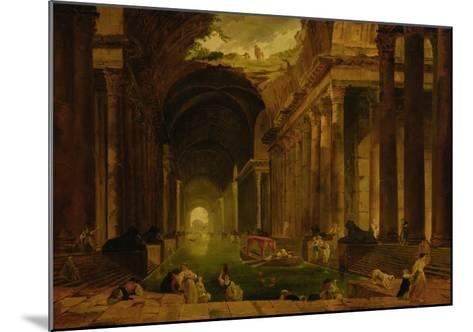 The Baths-Hubert Robert-Mounted Giclee Print