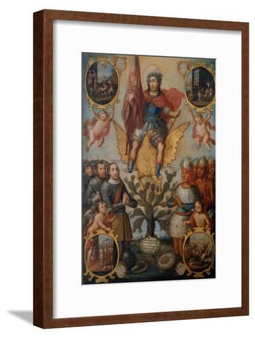 Saint Hippolytus Between Spanish and Aztec Soldiers--Framed Art Print