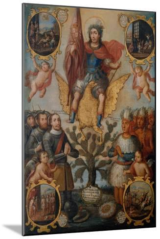 Saint Hippolytus Between Spanish and Aztec Soldiers--Mounted Giclee Print