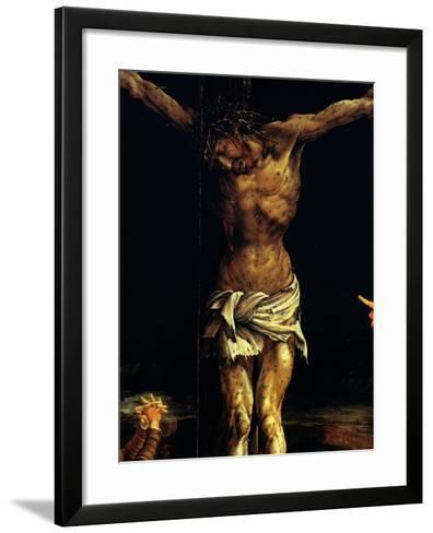 Isenheim Altar: Crucifixion, detail-Matthias Gruenewald-Framed Art Print