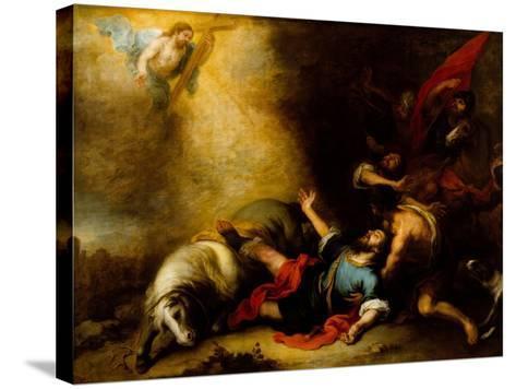 Conversion of Saint Paul-Bartolome Esteban Murillo-Stretched Canvas Print