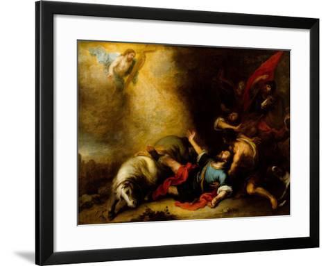 Conversion of Saint Paul-Bartolome Esteban Murillo-Framed Art Print