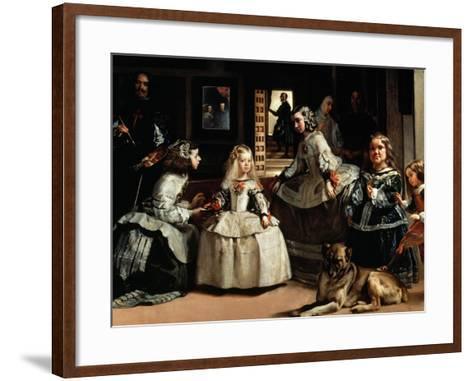 Las Meninas (The Maids of Honor) - detail, 1656-Diego Velazquez-Framed Art Print