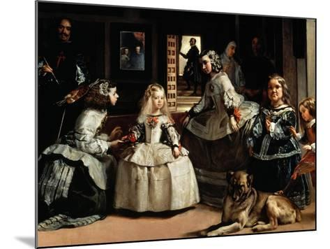 Las Meninas (The Maids of Honor) - detail, 1656-Diego Velazquez-Mounted Giclee Print
