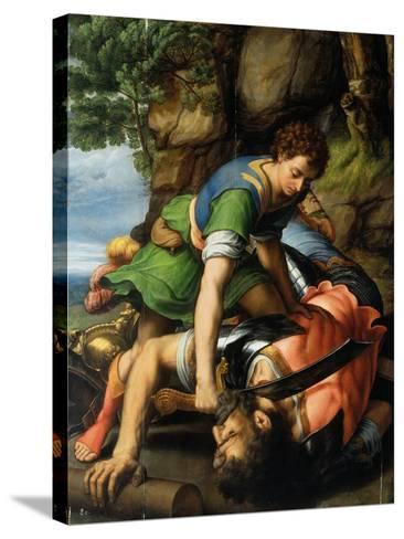 David and Goliath-Michiel Coxie-Stretched Canvas Print