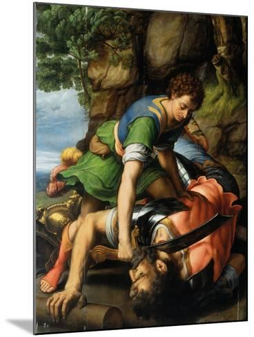 David and Goliath-Michiel Coxie-Mounted Giclee Print