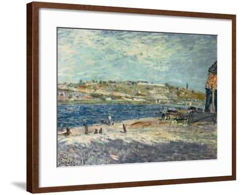 River Banks at Saint-Mammes, 1884-Alfred Sisley-Framed Art Print