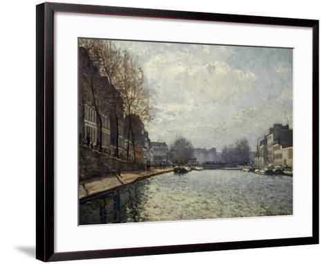 View of the Saint-Martin Canal-Alfred Sisley-Framed Art Print