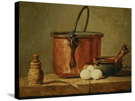 Still Life with Copper Vessel-Jean-Baptiste Simeon Chardin-Stretched Canvas Print