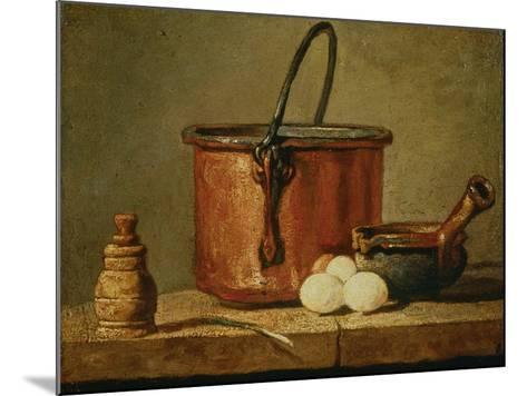 Still Life with Copper Vessel-Jean-Baptiste Simeon Chardin-Mounted Giclee Print