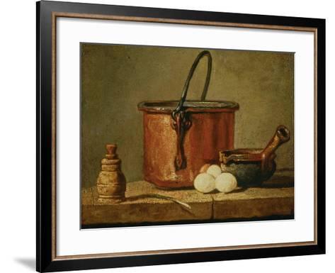 Still Life with Copper Vessel-Jean-Baptiste Simeon Chardin-Framed Art Print