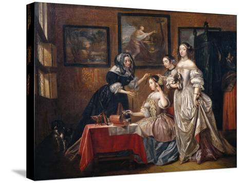 Ladies and maids-Lancelot Volders-Stretched Canvas Print