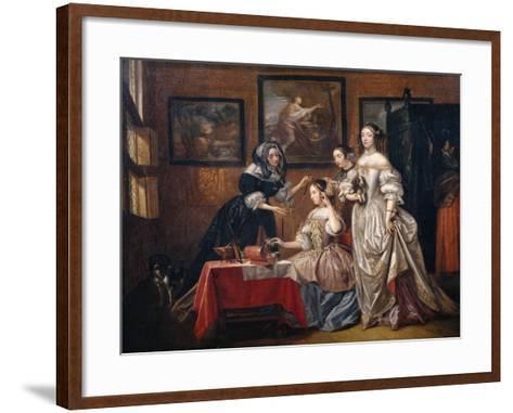 Ladies and maids-Lancelot Volders-Framed Art Print