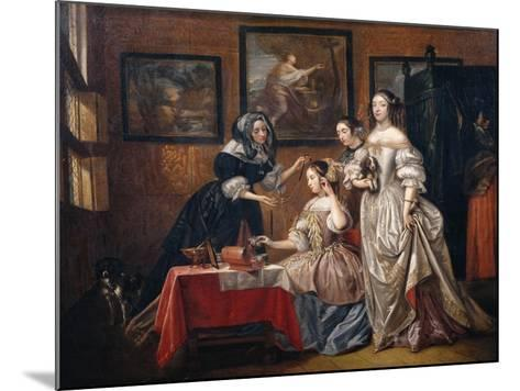 Ladies and maids-Lancelot Volders-Mounted Giclee Print