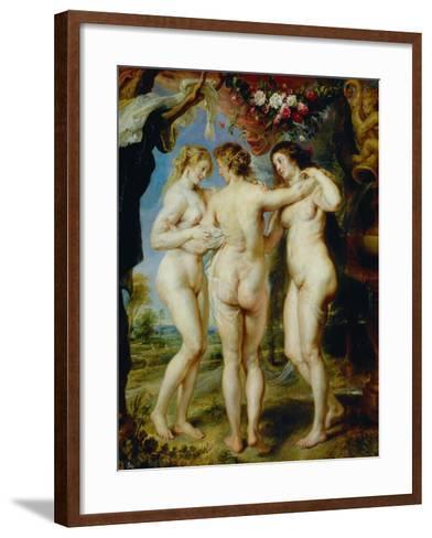 The Three Graces-Peter Paul Rubens-Framed Art Print