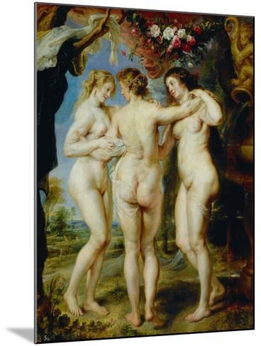 The Three Graces-Peter Paul Rubens-Mounted Giclee Print