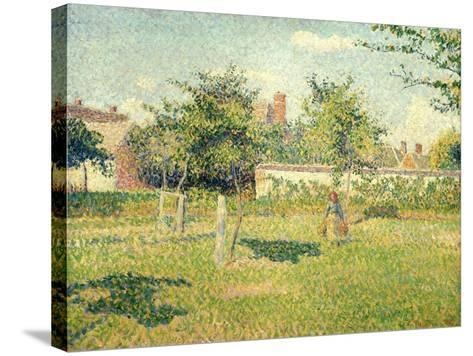 Woman on a Lawn-Camille Pissarro-Stretched Canvas Print