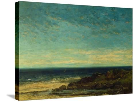 Seascape at Maguelonne-Gustave Courbet-Stretched Canvas Print