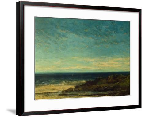 Seascape at Maguelonne-Gustave Courbet-Framed Art Print