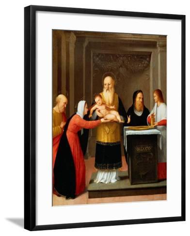 Presentation in the Temple-Bernardino Ferrari-Framed Art Print