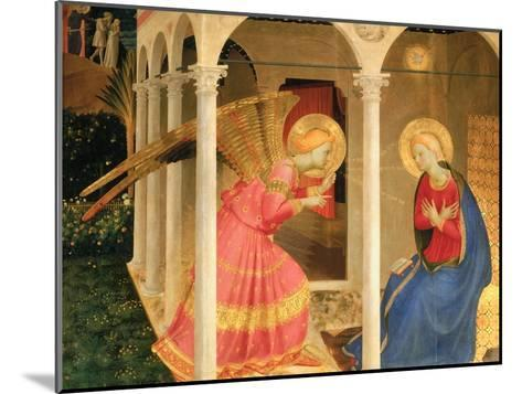 Cortona Altarpiece with the Annunciation, without predellas-Fra Angelico-Mounted Giclee Print