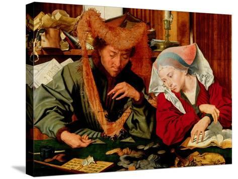 A Moneychanger and His Wife-Marinus Van Reymerswaele-Stretched Canvas Print