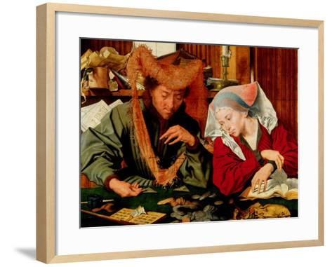 A Moneychanger and His Wife-Marinus Van Reymerswaele-Framed Art Print