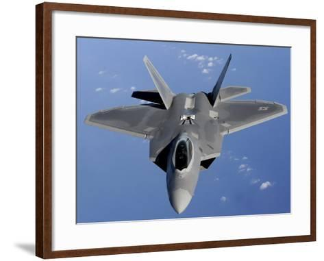 F-22 Raptor Moves into Position to Receive Fuel--Framed Art Print