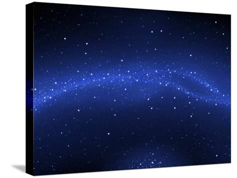 Illustration of the Milky Way--Stretched Canvas Print