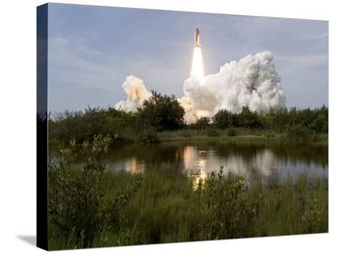 Space Shuttle Endeavour Lifts Off from Kennedy Space Center--Stretched Canvas Print