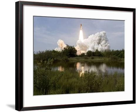 Space Shuttle Endeavour Lifts Off from Kennedy Space Center--Framed Art Print