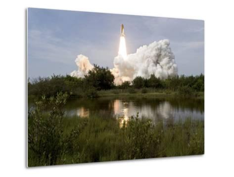 Space Shuttle Endeavour Lifts Off from Kennedy Space Center--Metal Print
