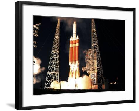 Delta IV Heavy Rocket Lifts Off--Framed Art Print
