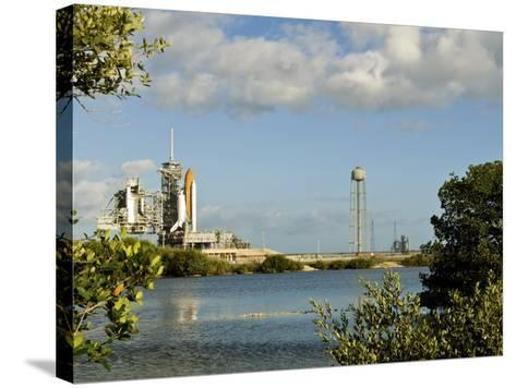 Space Shuttle Atlantis and Endeavour Sit on their Launch Pads at Kennedy Space Center--Stretched Canvas Print
