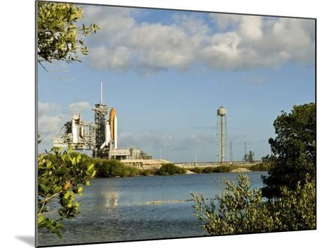 Space Shuttle Atlantis and Endeavour Sit on their Launch Pads at Kennedy Space Center--Mounted Photographic Print