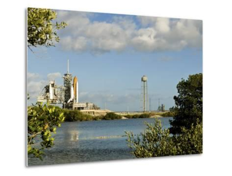 Space Shuttle Atlantis and Endeavour Sit on their Launch Pads at Kennedy Space Center--Metal Print