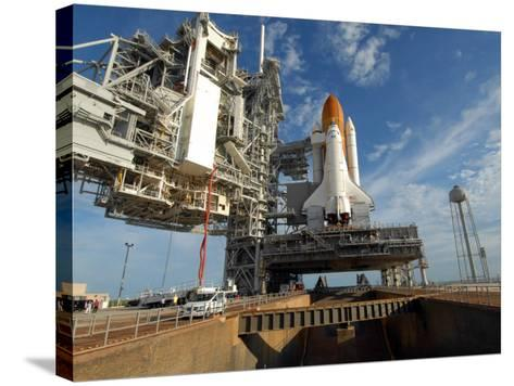 View Space Shuttle Atlantis on Launch Pad 39A at the Kennedy Space Center--Stretched Canvas Print