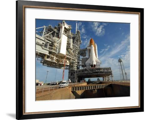 View Space Shuttle Atlantis on Launch Pad 39A at the Kennedy Space Center--Framed Art Print